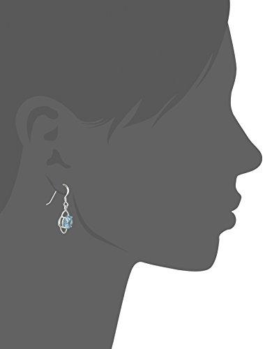 Sterling Silver Natural Gemstone Drop Earrings 7mm