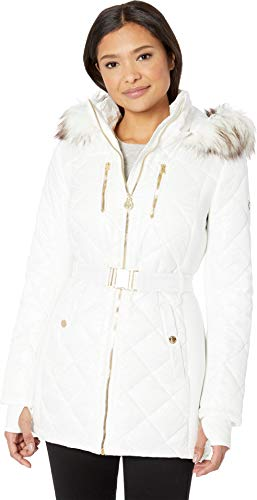 - MICHAEL Michael Kors Women's Zip Front Knit Poly Fill with Car Seat Belt A420617GZ White Medium