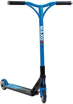 MAXOfit Deluxe Stuntscooter Blueline - Patinete de acrobacia - hasta 100 kg, Muy Robusto, atornillado 4 Veces, 66610
