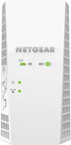 NETGEAR WiFi Extender EX7300-100CNS EXTENDED WIRELESS COVERAGE: Adds WiFi range coverage up to 2000 sq ft, and connects up to 35 devices such as laptops, smartphones, speakers, IP cameras, tablets, IoT devices, and more.