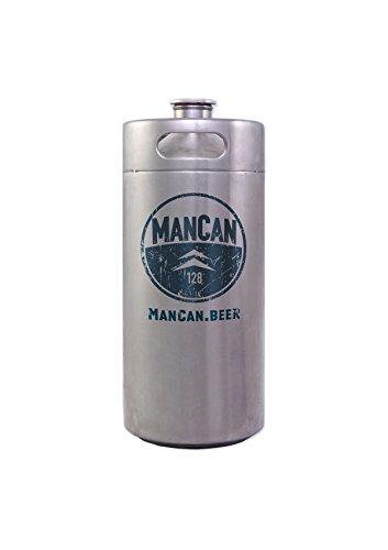 ManCan 128 Oz Portable Keg-style Beer Growler Alternative