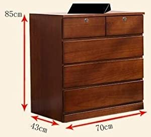 CK Handicrafts Sheesham Wooden Chest of 7 Drawers Sideboard Storage Cabinet for Living Room