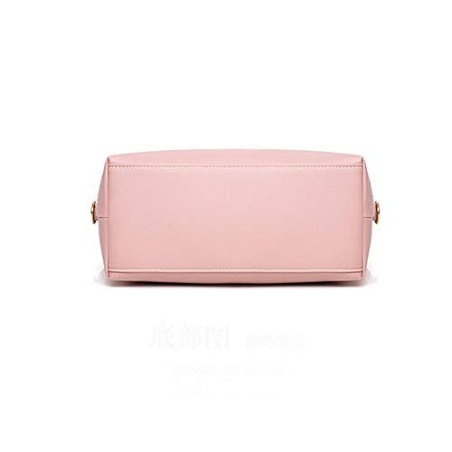 Mangetal Asas rosa Powder De Única Gbukqmy220290 Pink Negro Mujer Para Talla Bolso raUTwpx7rq