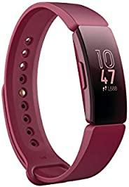 Fitbit Inspire Fitness Tracker, Sangria, One Size (s & L Bands Inclu