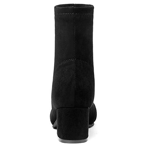de 2018 para Botas Zapatos Chicas Ancho Botines Tacón Martin Calentadas Elásticos Botas Adultos Mujeres Calcetines Moda Negro Botas OI5wwq4