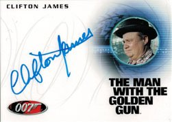 James Bond 50th Series Two Autograph Card A200 Clifton James as Sheriff (A200 Series)