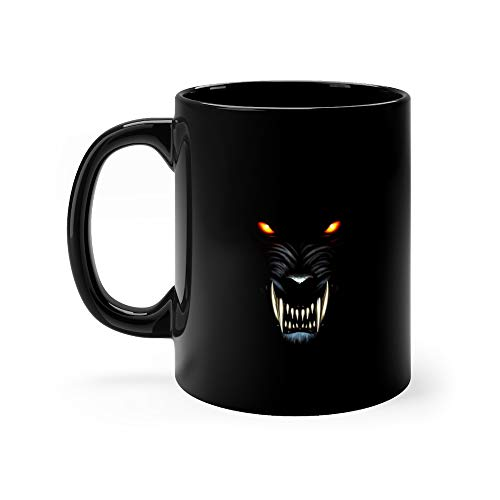 Werewolf Portrait Wild Dog Coffee Awesome Mugs Ceramic Cup 11oz]()