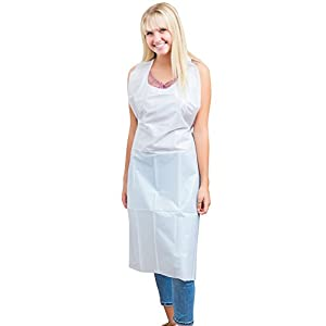 Green Direct Plastic Reusable/Disposable Heavy Duty Poly Aprons