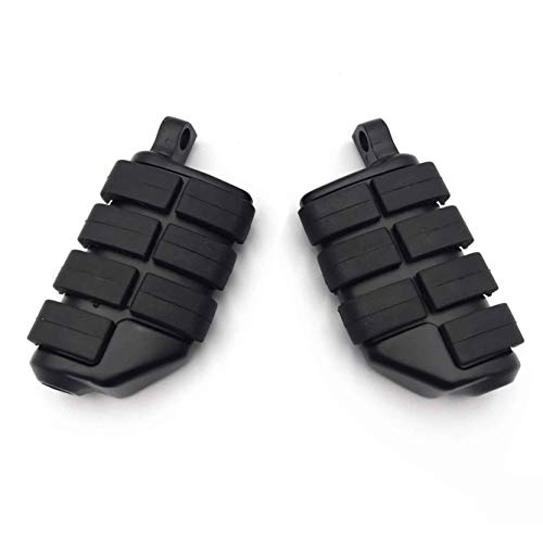 - HTT Black 8028 ISO Dually Foot Rest pegs For Harley Touring Electra Glide Softail & Dyna