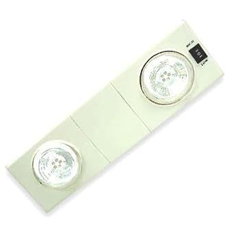Captelec - Lámpara de techo con 2 focos de 5 LED orientables