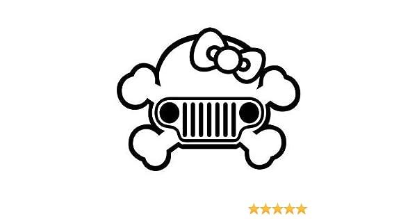 Amazoncom Hello Kitty Jeep Grill Premium Decal 5 Inch Whtie