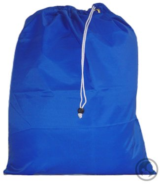 Laundry Bag with Drawstring and Locking Closure, Color: Royal Blue, Small Size: 22x28