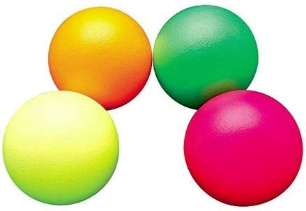 FLAGHOUSE Dino Skin Sup-R-Brite - ミディアムバウンス - コーティングされたフォームボール - 4枚セット - 7インチ B07JNL3PXV