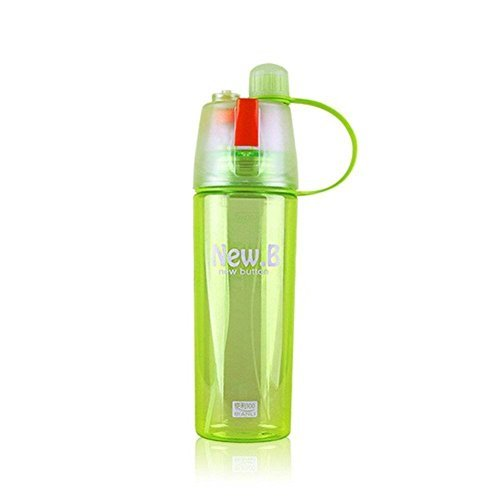 Valgens Bpa Free Plastic Drinking Water Bottle with Spray Mist for Camping Hiking (Plastic Drinking Water)