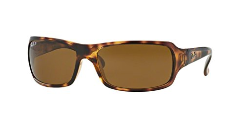 Ray-Ban RB4075 Sunglasses - Polarized Havana/Crystal Natural Brown, One Size ()