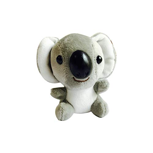 bromrefulgenc 10cm Cute Mini Koala Plush Toy Fluffy Stuffed Animal Doll Key Chain Pendant - Gray
