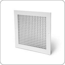 Egg crate grille (white), 300mm x 300mm, aluminium, extractor fan, ventilation, ducting Ventilation Centre