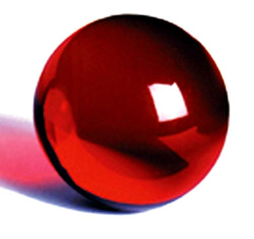 DSJUGGLING Ruby Red Acrylic Contact Juggling Ball - 76mm (3 Inches) Packed with Protective Bag