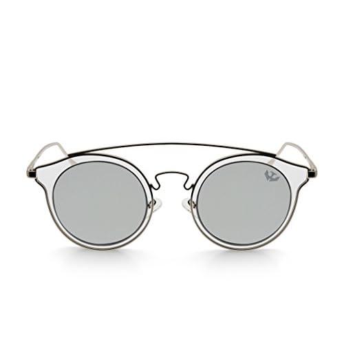 85c71fe7f2 Gafas de sol mujer MOSCA NEGRA ® modelo BIG GLAM SILVER espejo - Polarized