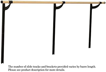Vita Vibe Traditional Wood Single Adjustable Height Wall Mount Ballet Barre Stretch Dance Bar Usa Made 4 Ft 40 Ft Ballet Equipment Amazon Canada