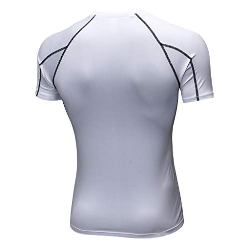 Tailles Cinq Blouse shirt À Pour Sportif Chemise Blanc Dix Running Rapide Leggings D'entraînement Yoga Homme Couleurs T kinlene Sport De Homme Entraînement Moulant Fitness Séchage BxdHgqgw