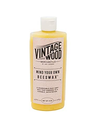 Amy Howard at Home   Vintage Wood - Mind Your Beeswax   Wood and Metal Protective Finish, Seal & Conditioner   Satin Sheen Antique Furniture Finish   Carnauba and Beeswax Combination   Soft Wax   8 Oz from AMY HOWARD AT HOME