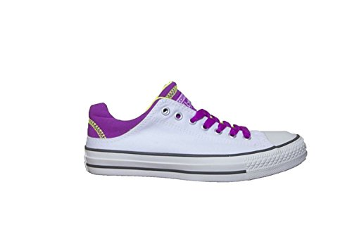 Converse Damen Woman Gr. 36.5 (US4) Chuck Taylor CT All Star weiß *** Cruz Ox White/Purple Cactus Flower/Safety Yellow *** 541942C Canvas
