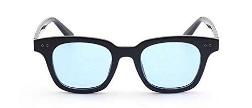 en métallique soleil retro Lennon lunettes Film vintage style polarisées du cercle inspirées Bleu de rond PaWaxwq5Yz