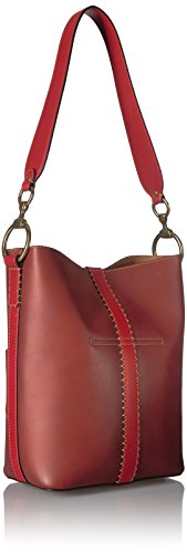 Bucket Color Leather Clay Block Ilana FRYE Hobo Multi Red Bag txqOBXw5