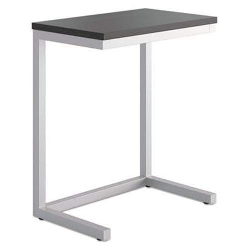 Basyx Folding Table - Basyx HML8858P Occasional Cantilever Table 24w x 15d x 20 3/4h Black/Silver