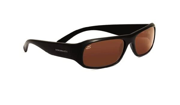 c938e2437c53 Serengeti Genova Sunglasses (Shiny Black Drivers) Dark Tortoise  Unisex-Adult: Amazon.ca: Sports & Outdoors
