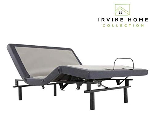 Irvine Home Collection AMZSW7000Q Adjustable Bed Base, Grey