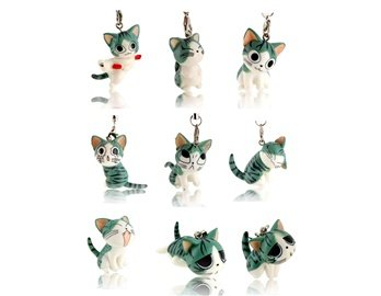 Chi's Sweet Home Cell Phone Bag Charm Figure Strap Pendant 9-Pack -