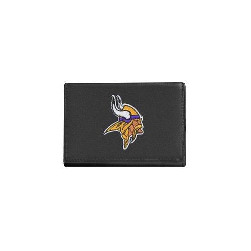 Minnesota Vikings Leather (NFL Minnesota Vikings Embroidered Genuine Cowhide Leather Trifold Wallet)