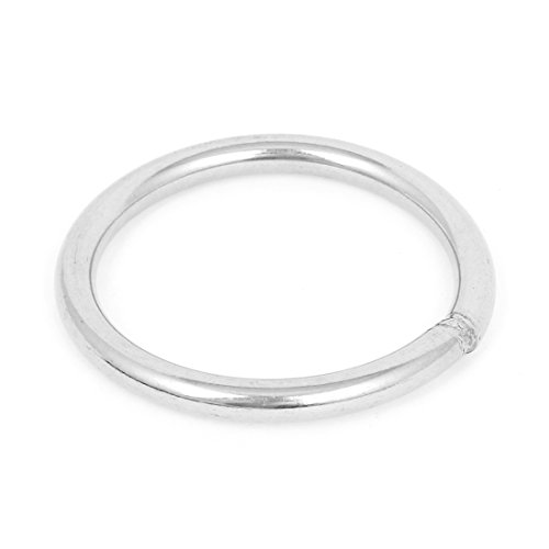 Uxcell a15060500ux0114 80mm x 8mm 304 Stainless Steel Webbing Strapping Welded O (Wire O-ring)