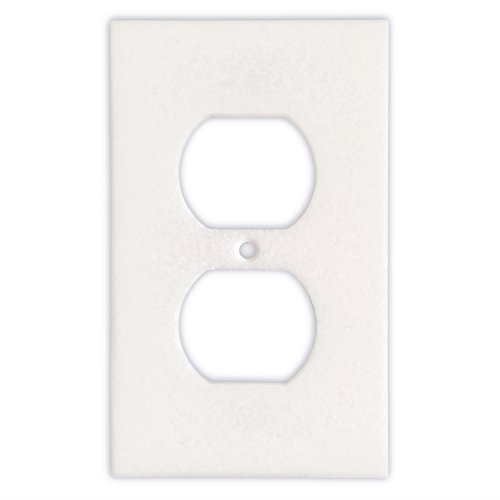 Thassos White Marble Switch Plate Cover, Honed (SINGLE ()