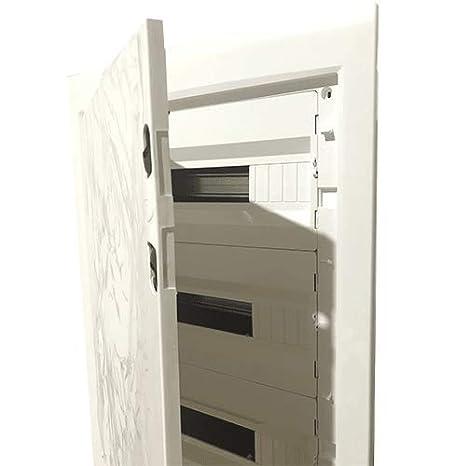 Caja distribucion electrica empotrable IP30 de 54 modulos