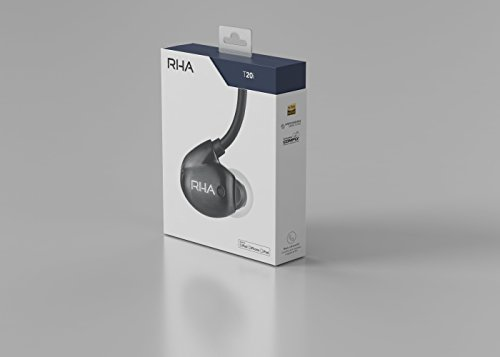 316iQXNuMNL - RHA T20i in-Ear Monitors (Gen. 2): HiFi Noise Isolating Stainless Steel in-Ear Headphones with Remote & Mic