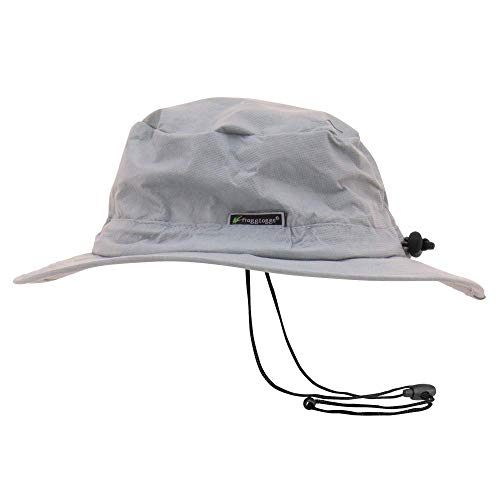 (Frogg Toggs Waterproof Breathable Bucket Hat, Gray, Adjustable)
