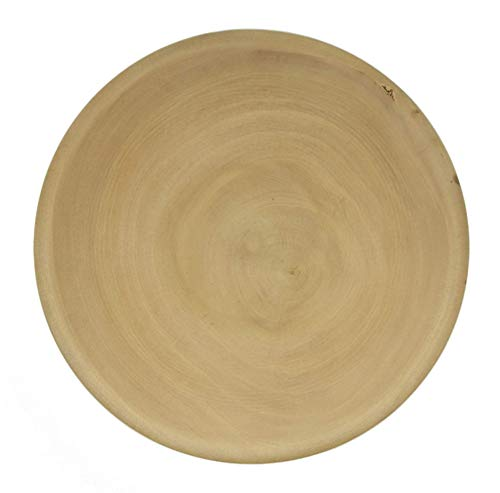 Mango Wood Plate Handmade Sustainable Wooden Round Plates Dinner Plates Canape Cheese Plates (8