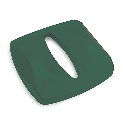 Rubbermaid Commercial FG269000GRN Untouchable Square Paper Recycling Container Top, Green - Rubbermaid Recycling Green