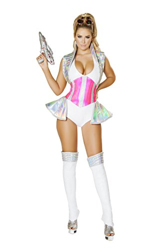 [Sexy Women's 1pc Barbarella Space Alien Buster Romper Costume (S)] (Alien Costume Woman)