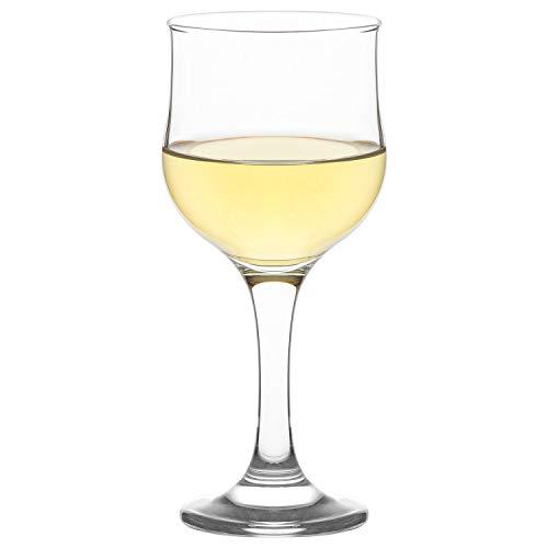 LAV Wine Glasses Red or White 8 oz, Set of 6