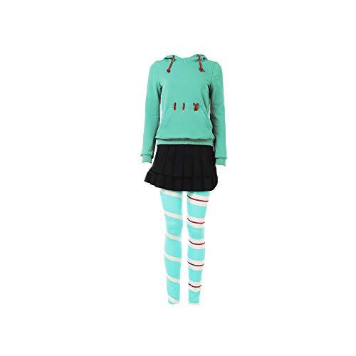SevenJuly1 Vanellope Von Schweetz Costume Hoodie and Leggings Deluxe Halloween Cosplay Full Set Suit Kids L -