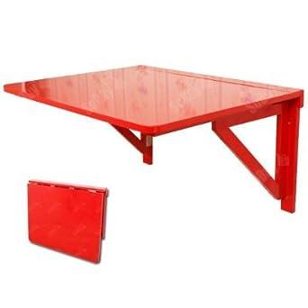 SoBuy Mesa de cocina, mesa plegable de pared, mesa de madera ...
