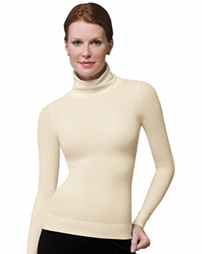SPANX On Top and in Control - Long Sleeve Shaping Turtleneck (973) (Vanilla/Small)