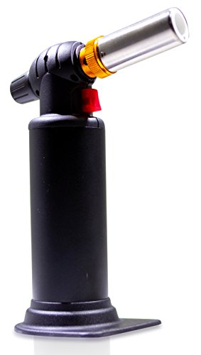 Butane Torch Black Dragon (Black) Heavy Duty Micro Blow Torch for Soldering-Big Tank- Plumbing- Refillable Butane Torch- Jewelry-Torch for Home and Kitchen-Adjustable Flame-Metalsmithing-Brazing (Heavy Duty Torch Lighter)