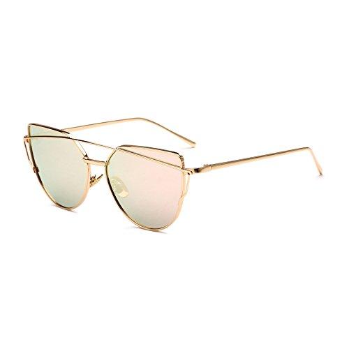 Sol Sol JUNHONGZHANG B Gafas De para Hombre Gafas UN Eye Sol Decorativas Cat Gafas Sapo De De De Mujer Metal Colores 4PA4Y