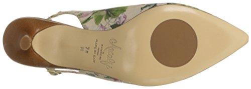 Amalfi by Rangoni Womens phebe-Fab Dress Pump White/Multi Blossom/Cognac Leather CstSt