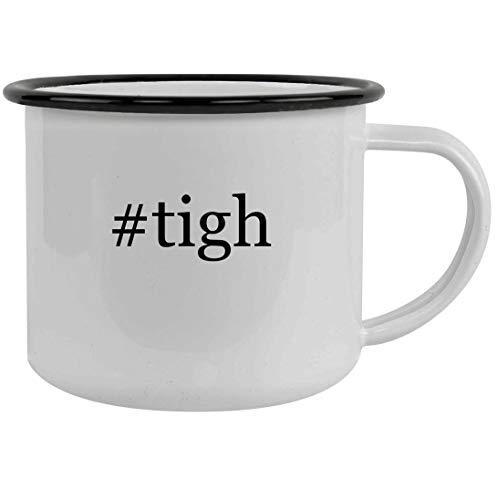 #tigh - 12oz Hashtag Stainless Steel Camping Mug, Black